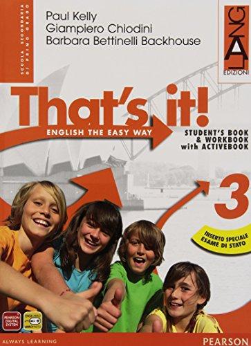 That's it! Extrabook. Per la Scuola media. Con espansione online: 3