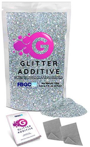 Levaka glitter per pittura da 150 grammi - additivo brillantini decorazioni glitter olografico - con 2 pad lucidanti inclusi - da aggiungere a qualsiasi pittura per esterni ed interni a emulsione