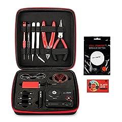 Idea Regalo - Coil Master, DIYV3,kit di attrezzi, con dima (V4), tester MINI Tab, pinzette, cavo resistente al calore