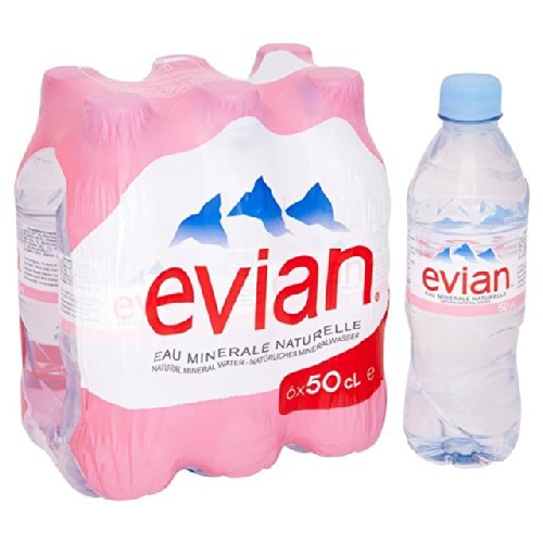 Noch Evian Mineralwasser 6 x 500ml (Evian Wasser)