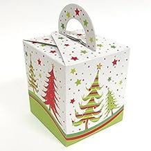 Diseño de árbol de Navidad 10cajas de cajas para cupcakes–fiesta–Sweet Boxes cajas de regalo