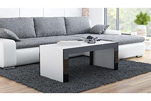 Table Basse Design YORI - Blanc et Noir - 120
