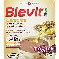 Blevit Plus Trocitos Cereales con Pepitas de Chocolate - Paquete de 2 x 300 gr -