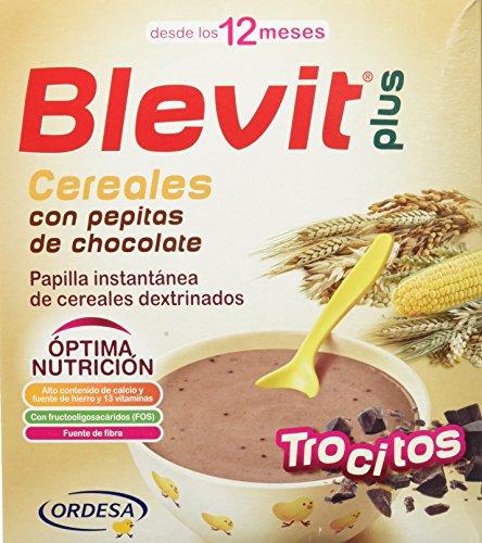 Blevit Plus Trocitos Cereales con Pepitas de Chocolate - Paquete de 2 x 300 gr - Total: 600 gr