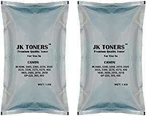 JK TONERS Powder for USE in Canon Image Runner IR Photocopier Xerox Machine (TNR33002KG) - Pack of 2
