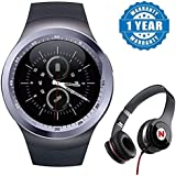 Captcha Y11 Smart Watch With Sim/Memory Card Slot For Men/Woment/Kids With Mega Bass Headphones(Color May Vary)