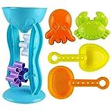 Fenteer 5 Stücke Kinder Wasserrad Wassermühle Badewannenspielzeug, Sandkästen und Sandspielzeug