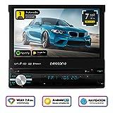 NEOTONE NDX-150A | universelles 1DIN Autoradio | Navigation mit Europakarten | DAB+ Unterstützung | DVD | 7 Zoll | 16GB inkl | WLAN | Bluetooth | OBD 2 | USB