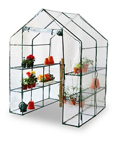 Keinode Compact Serre extérieur pour Serre Graden Green House Cadre pour Harbour Housewares Plastique Légumes Fruits 143×143×195cm
