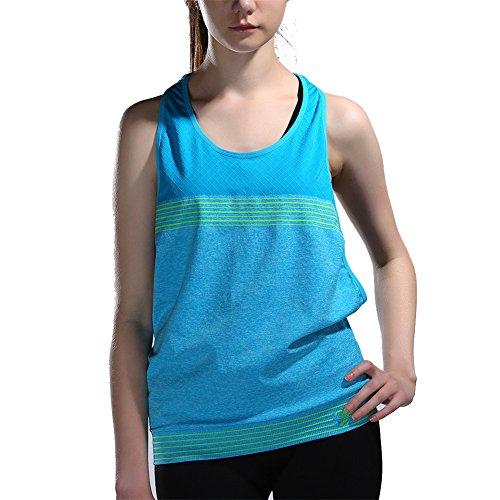 Fashion Damen Sportshirt Tanktop Ringerrücken Oberteil Sportswear Fitness/Yoga lässig C