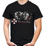 Resident Evil Männer und Herren T-Shirt   Umbrella Corporation Zombie     M3 (XL, Schwarz)