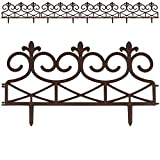 Rasenkante Palisade Beeteinfassung Mähkante | Royal Zaun | 60 x 30 cm | braun | 4er Set | Modell- und Farbwahl