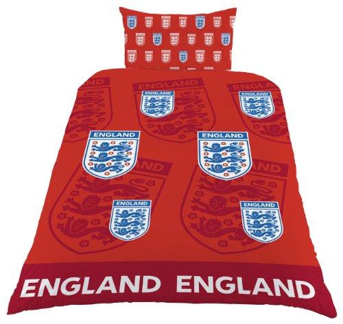 Zap, Wappen England Bettbezug für Einzelbett, Rot (Bettdecke Wappen)