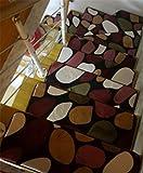 PLYY Coral Fleece Treppe Decken aus Kunststoff Selbstklebende Rutschfeste Treppenmatten Step Pad rotierende Geformte Teppich, H, 20cm*40cm