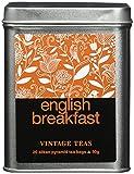Vintage Teas Schwarzer Tee English Breakfast, 20 Pyramidenbeutel in Metalldose, 2er Pack (2 x 50 g)