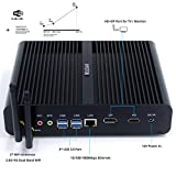 hystou fmp05b fanless Core i7, Gaming Mini PC, mini PC Ordinateur de bureau avec Intel Core i7 7500u 3,5 GHz 300 m wifi 8GB RAM 128GB SSD