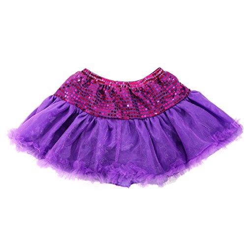 Glitzer 80er Jahre Damen Tüllrock Tutu Unterrock Petticoat Ballettrock Reifrock - Neon-80er-jahre-halloween-kostüme