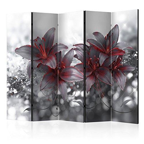 murando Paravent XXL: 225x172 cm Réversible Deux Côtés Impression sur Toile intissée 100% Opaque Foto Paravent décoratif en Bois avec Interieur Impression b-A-0300-z-c