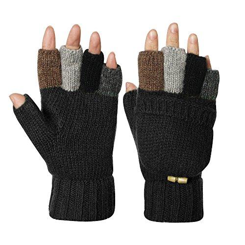 Kata convertitore guanti in lana senza dita guanti touchscreen taglia unica