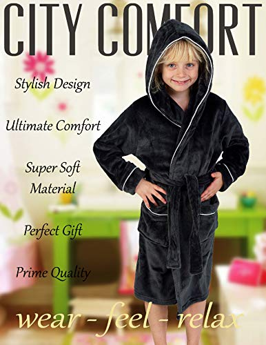 Citycomfort Peignoir Garçon Robe De Chambre Polaire Enfant Peignoire Extra Doux
