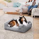 Songmics Hundebetten innenkissen Beidseitig Verwendbar mit unten einen Anti-Rutschboden 80 x 60 x 26 cm PGW26G - 2