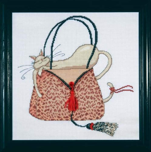 Design Works Kit pour point de croix Motif sac à main léopard/multicolore