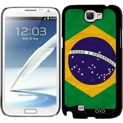 Hülle für Samsung Galaxy Note 2 (GT-N7100) - Brasilien Rio Flagge Brasilianisches by WonderfulDreamPicture
