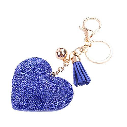 HCFKJ  Liebe Strass Quaste Schlüsselbund Tasche Handtasche Schlüsselanhänger Autoschlüssel Anhänger (BU)