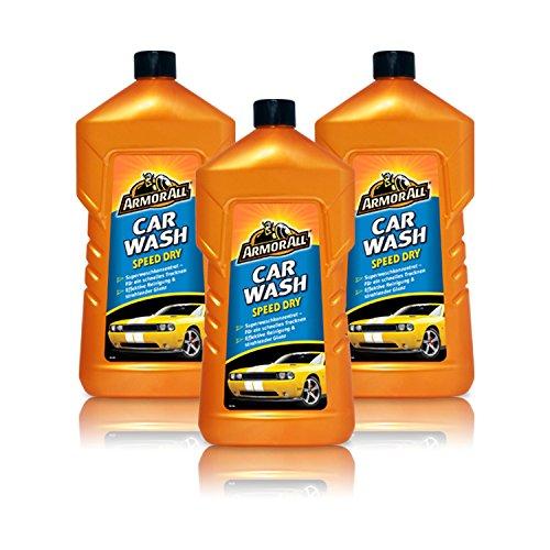 Preisvergleich Produktbild 3x ARMOR ALL 27001L CAR WASH SPEED DRY AUTOWÄSCHE 1 Liter