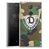 Sony X XA 2 Ultra Silikon Hülle Case Schutzhülle Sg Dynamo Dresden Logo Camouflage
