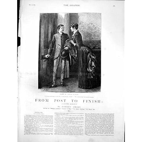 La Stampa Antica Dalla Posta Per Finire il Raduno Gerald degli Avvocati Sposa Sig.na Greyson1884