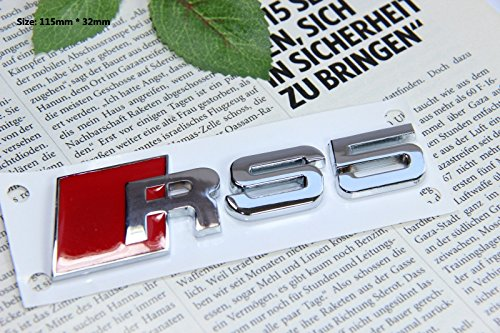 E378 RS 5 Emblem Zeichen Badge auto Abziehbild aufkleber 3D Schriftzug Plakette Car Sticker - Emblem Badge
