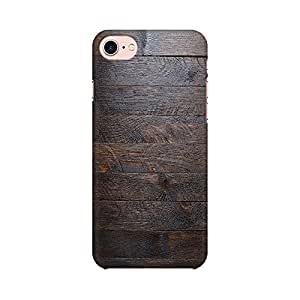 Mobicture Abstract Wooden Pattern Designer Printed Hard Case Cover - [Hard Poly Carbonate] [Slim-fit] [Shock-Proof] Back Cover for Apple iPhone 7