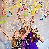 Sayala 30 Stücke Deko-Set * Colorful Musical Notes * für Kindergeburtstag und Mottoparty Geburtstag Dekor,Musik Spiralen zum Aufhängen, Dekoration