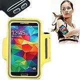 Eloja Sport Armband Neopren Tasche Armtasche Sportarmband Hülle Handytasche für Samsung Galaxy S7 S6 Edge S5 S4 S3 mit Schlüsselfach und praktischem Klettverschluss