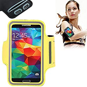 Eloja® Sport Armband Neopren Tasche Armtasche Sportarmband Hülle Handytasche für Samsung Galaxy S7 S6 Edge S5 S4 S3 mit Schlüsselfach und praktischem Klettverschluss