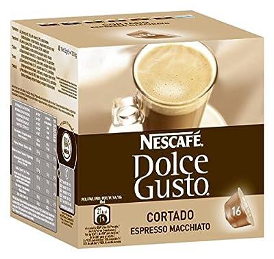 Nescafe Dolce Gusto Cortado Lot de 16Café Accessoires