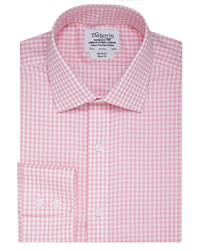 tmlewin-mens-non-iron-gingham-slim-fit-button-cuff-shirt-pink-16
