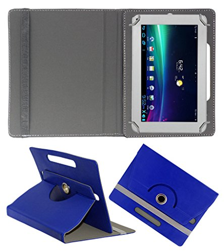 Acm Rotating 360° Leather Flip Case For Ambrane A-707 Tablet Cover Stand Dark Blue  available at amazon for Rs.149