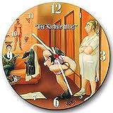 Veit's originelle, lustige Cartoon Wanduhr Physiotherapie - Der Nächste Bitte!