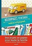 Découpages vintage, voitures et transports