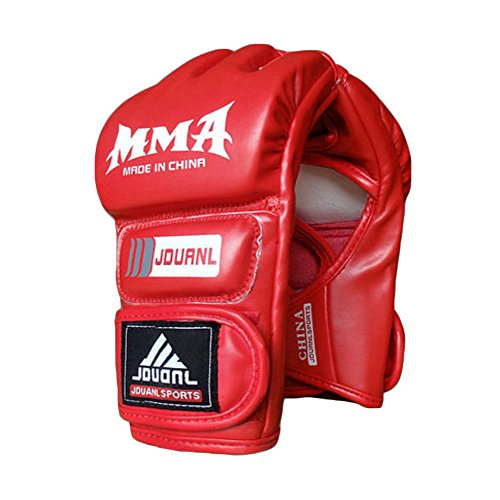 Erwachsene Kämpfen Halbfingerhandschuhe-UFC Boxhandschuhe-Handschuhe MMA 2- Rot