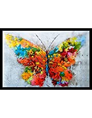 PAF written in a Frame Uv Textured Modern Art Print Framed Painting Home Decoration - Size 35 X 2 X 50 Cm