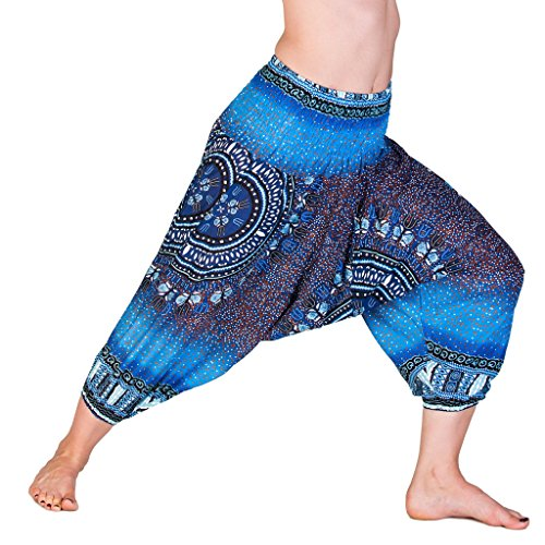 Farbe Kostüm Wechselnden - PANASIAM® Aladin Pants 3/4, Maoi_Blue