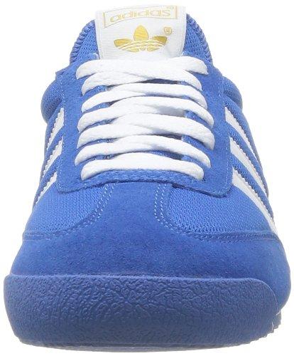 adidas, Dragon, Scarpe sportive, Uomo (Blanc-Bleu)