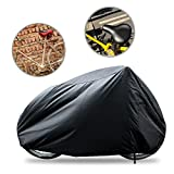 Funda para bicicletas Impermeable - funda de bici resistente contra polvo/ UV sol/ agua - protector ideal para cubrir individual bicicleta motocicleta al aire libre 190x 65x 98cm negro