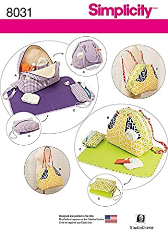 Simplicity Baby Sewing Pattern 8031 Diaper Bags & Baby Accessories