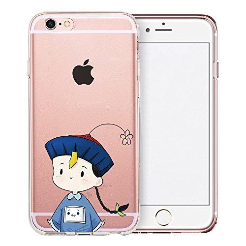 Coque iPhone 6S Plus, TrendyBox Transparent PC Hard Cover avec soft TPU Pare-chocs pour iPhone 6/6S Plus avec verre trempe film de protection (Danseuse de ballet) 115