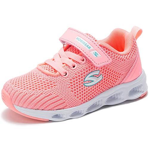 Turnschuhe Kinder Sportschuhe Jungen Sneaker Mädchen Hallenschuhe Laufschuhe Outdoor für Unisex-Kinder Pink 27EU