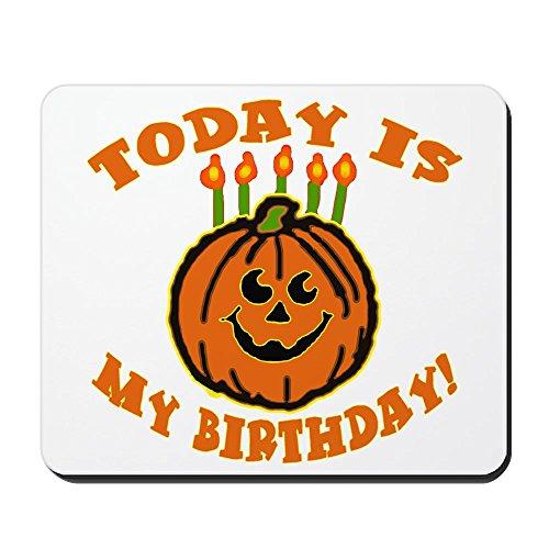 CafePress Mauspad mit Aufschrift My Halloween Birthday, rutschfest, Gummi